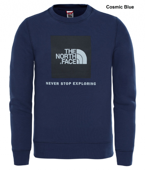 The North Face Youth Box Drew Peak Crew - Kids Cotton Jumper